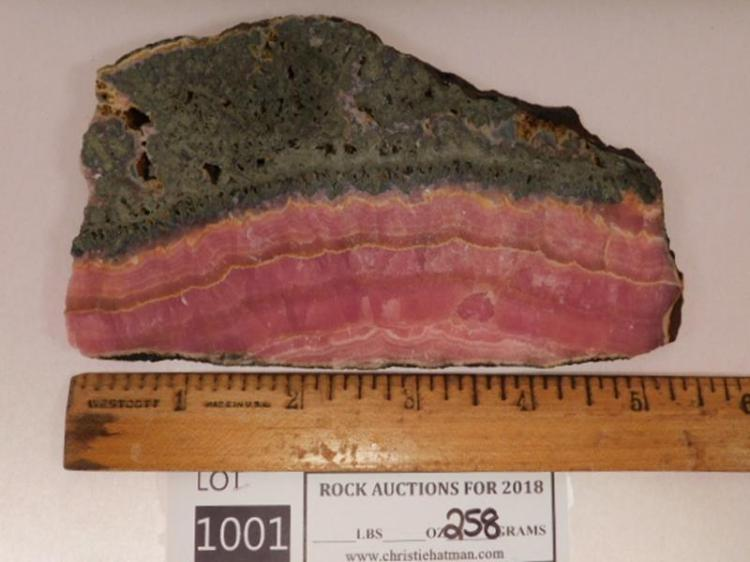 BACON RHODOCROSITE WITH PYRITE SLAB ROCK STONE LAPIDARY SPECIMEN( YES, WE SHIP!)
