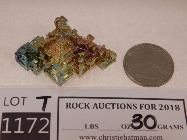 LABORATORY GROWN BISMUTH ROCK STONE LAPIDARY SPECIMEN(YES WE SHIP)