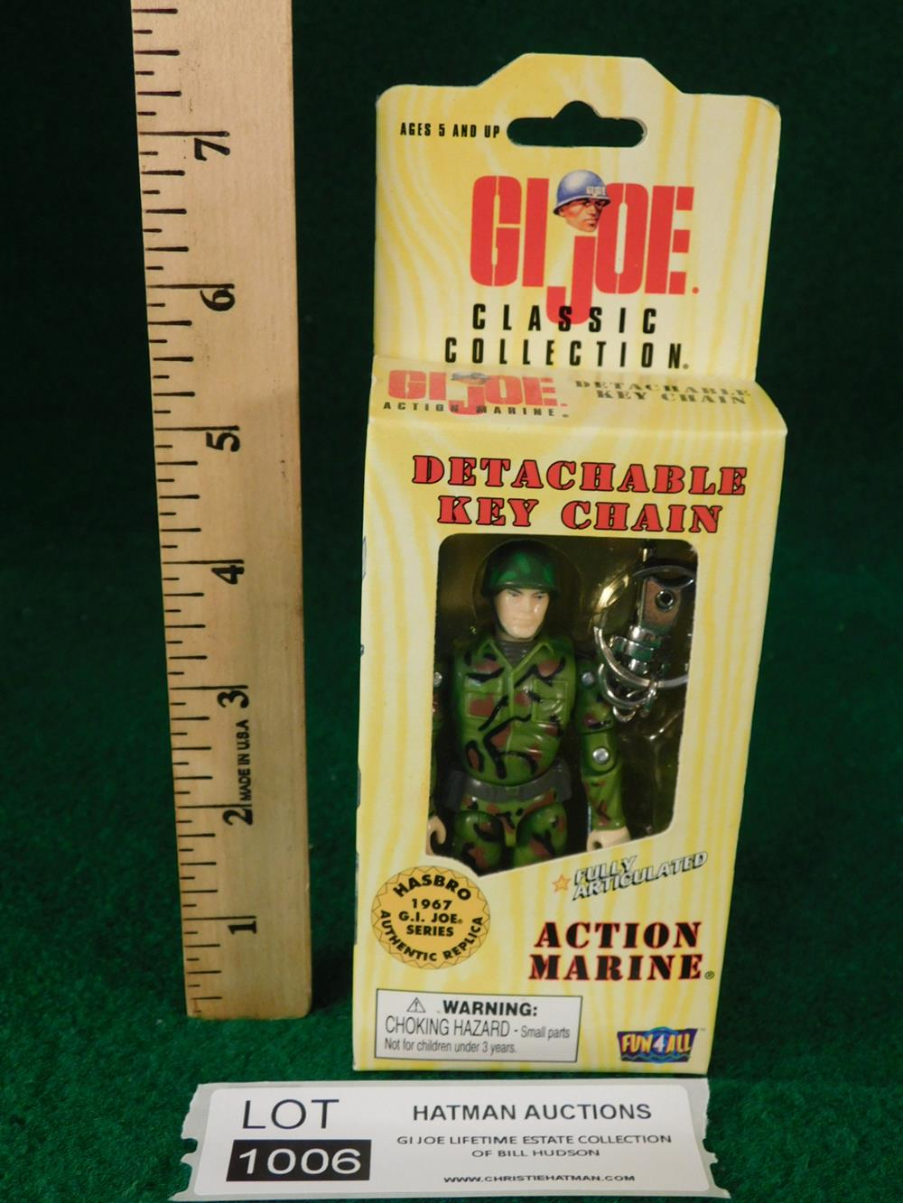 ACTION MARINE DETACHABLE KEY CHAIN G. I. JOE ACTION FIGURE TOY
