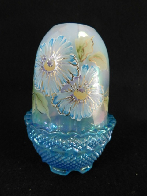 FENTON ART GLASS USA HANDPAINTED FAIRY LIGHT WHITE (Yes, We Ship)