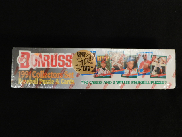 DONRUSS 1991 COLLECTORS SET BASEBALL PUZZLE AND CARDS UNOPENED
