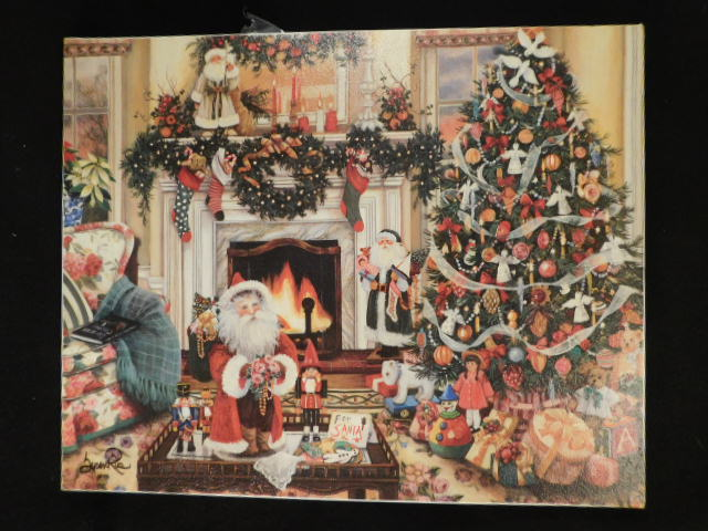 "SUSAN RIO ORIGINAL ART PAINTING PRINT WITH COA ""COZY CHRISTMAS MEMORIES"
