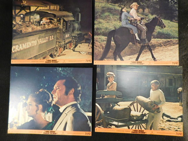 "MOVIE POSTER LOBBY CARDS ""ONE MORE TRAIN TO ROB"