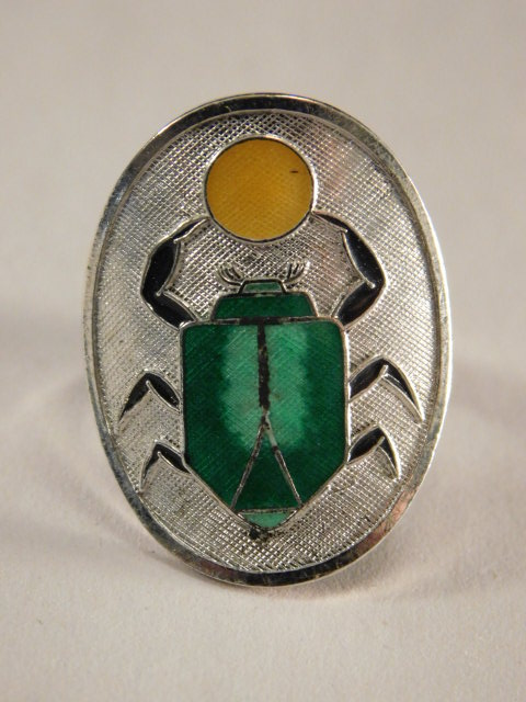SCARAB ANTIQUE VINTAGE JEWELRY