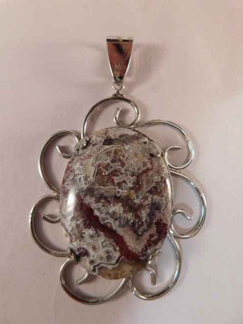 MEXICAN LACE CABOCHON PENDANT (Yes, We Ship)