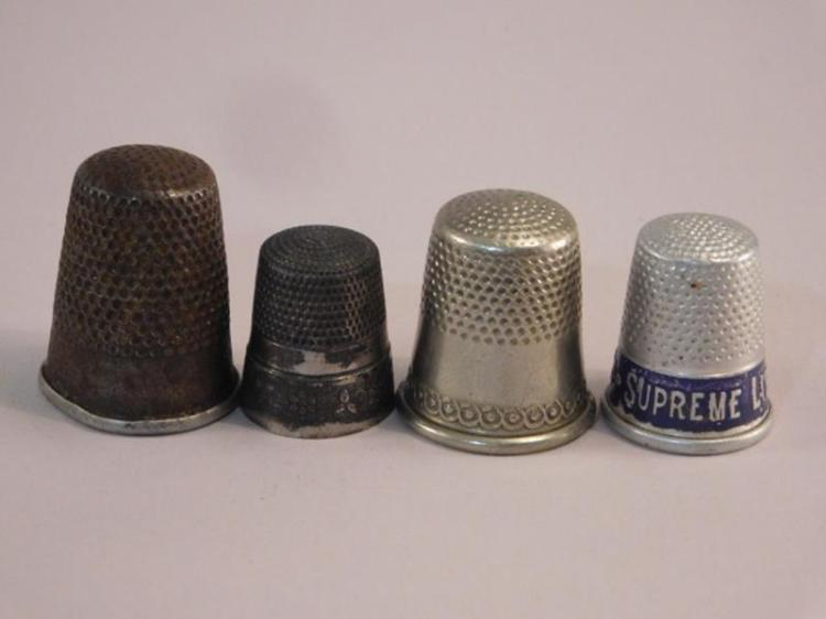 THIMBLES SEWING COLLECTIBLE ADVERTISING VICTORIAN ERA ANTIQUE VINTAGE (Yes, We Ship)