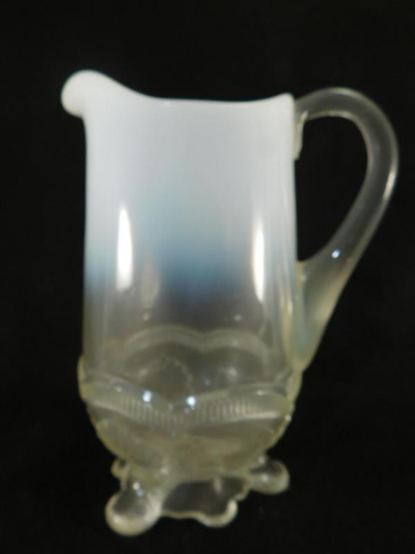 OPALESCENT PITCHER WREATH AND SHELL VICTORIAN EAPG ANTIQUE (Yes, We Ship)