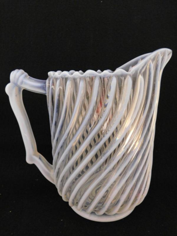GONTERMAN SWIRL PITCHER EAPG VICTORIAN GLASS 1800'S (Yes, We Ship)