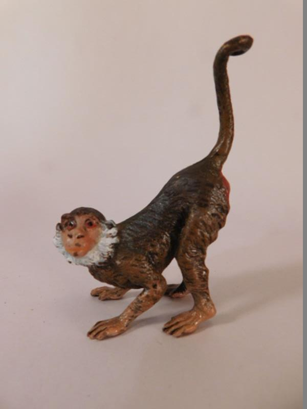 VINTAGE METAL MONKEY MINIATURE HEAVY (Yes, We Ship)