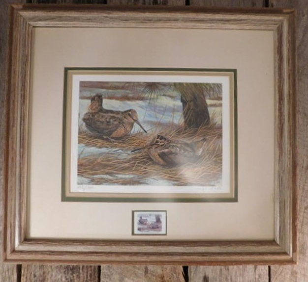 DUCKS UNLIMITED JIM FOOTE STAMP FRAMED PRINT SIGNED NUMBERED (Yes, We Ship)