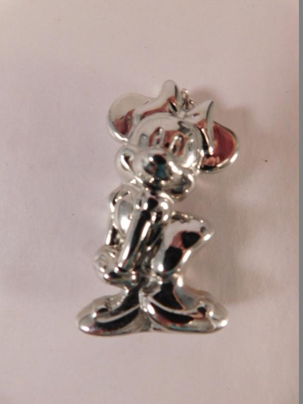 STERLING SILVER MINNIE MOUSE DISNEY PENDENT (Yes, We Ship)