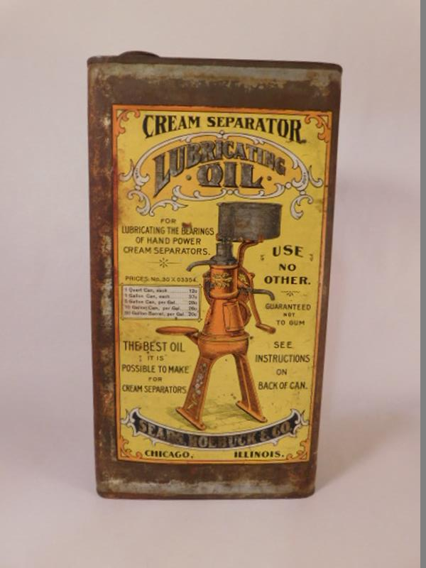 VINTAGE OIL CAN LUBRICATING OIL FOR CREAM SEPARATOR (Yes, We Ship)