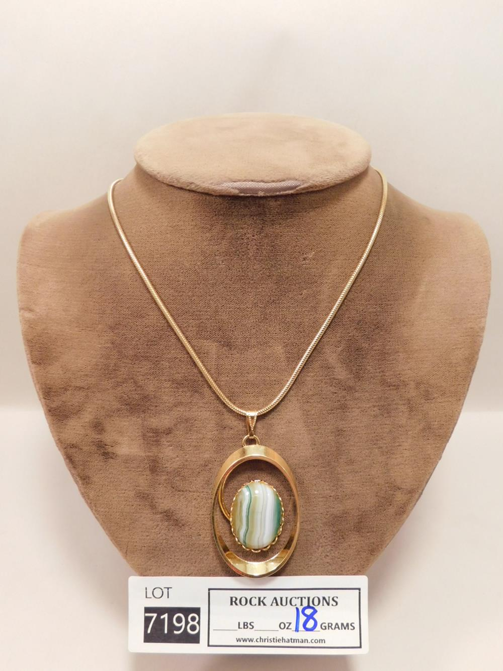 CABOCHON PENDANT AND NECKLACE ROCK STONE LAPIDARY SPECIMEN