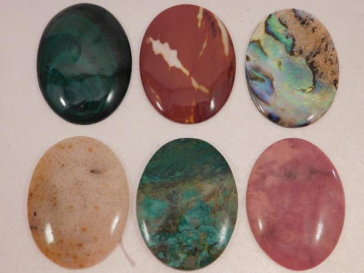 ASSORTED CABOCHONS ROCK STONE LAPIDARY SPECIMEN