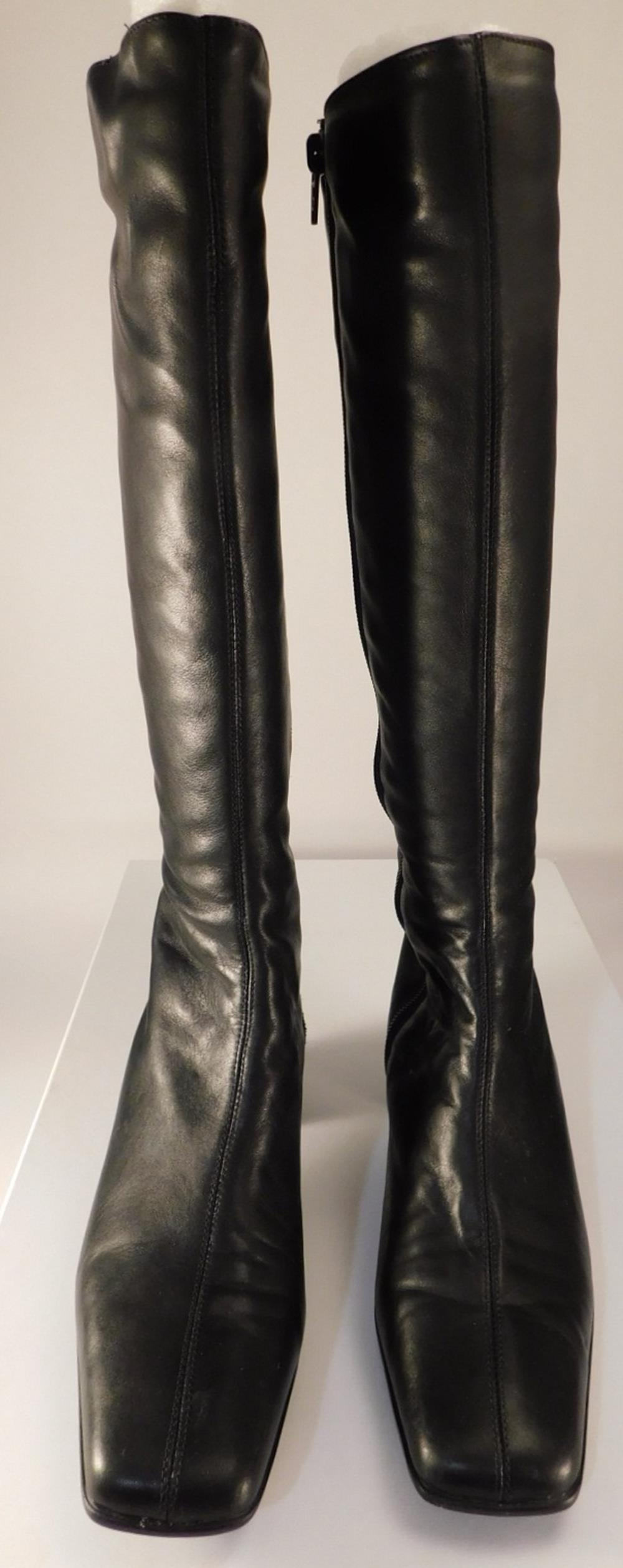 SESTO MEUCCI OF FLORENCE MADE IN ITALY SHOES SAFARA BLACK NAPPA SIZE 7 1/2 N LADIES BOOTS