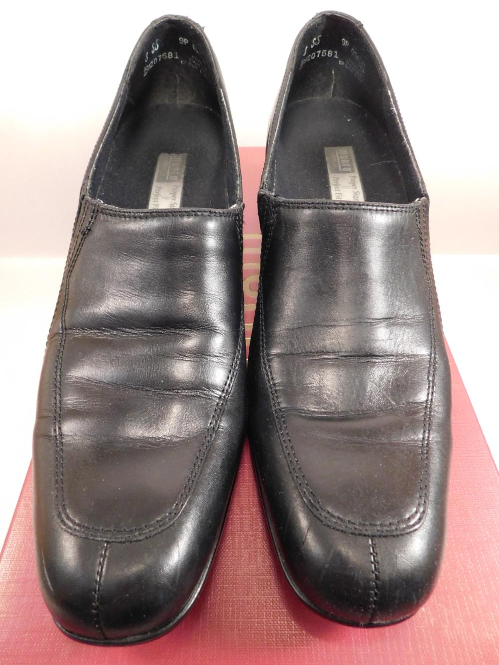 BELAIR BLACK LEATHER SIZE 8SS WOMENS SHOES