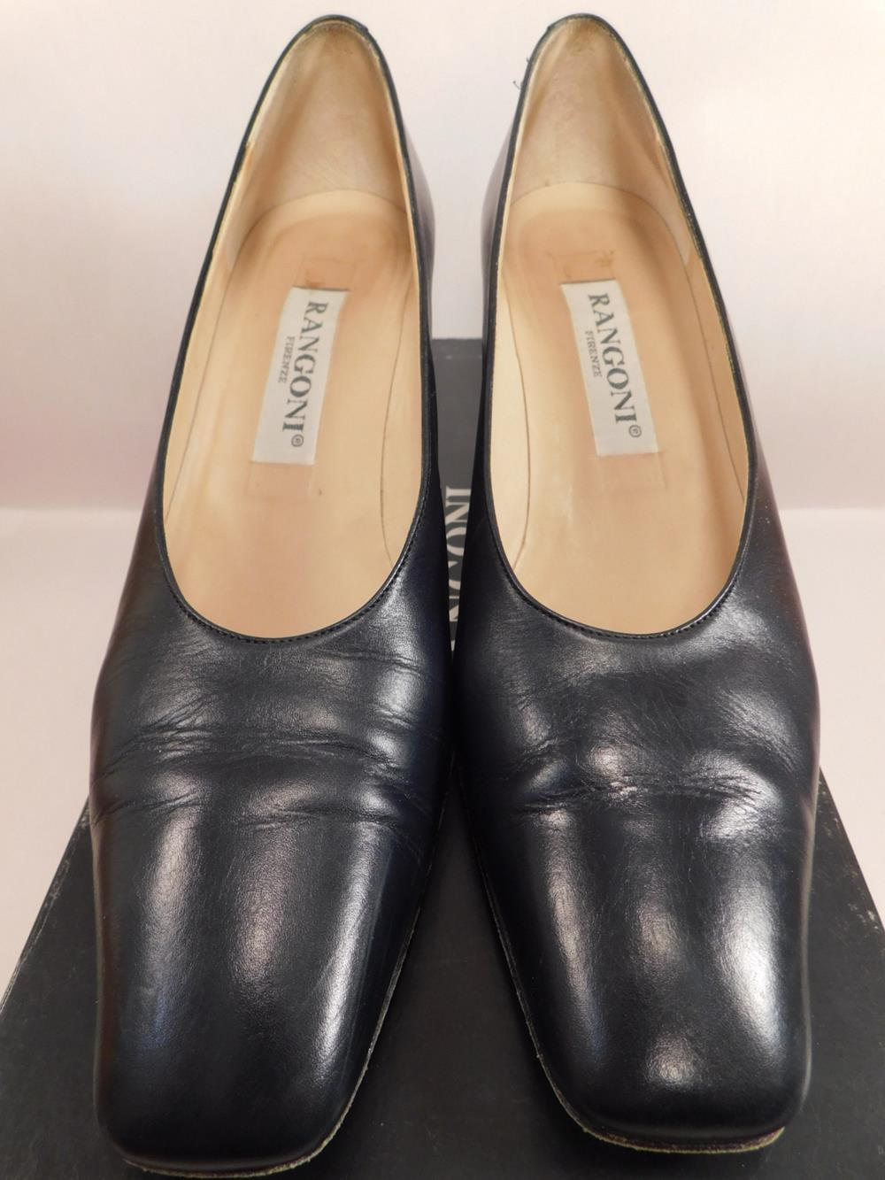 RAGONI MINY NAVY SIZE 7.5 SS WOMENS SHOES