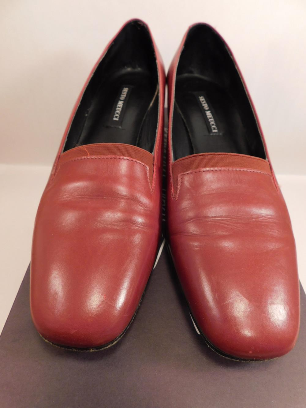 SESTO MEUCCI OF FLORENCE MADE IN ITALY SHOESEVELYN DKRED CALF SIZE 7.5 S WOMENS SHOE