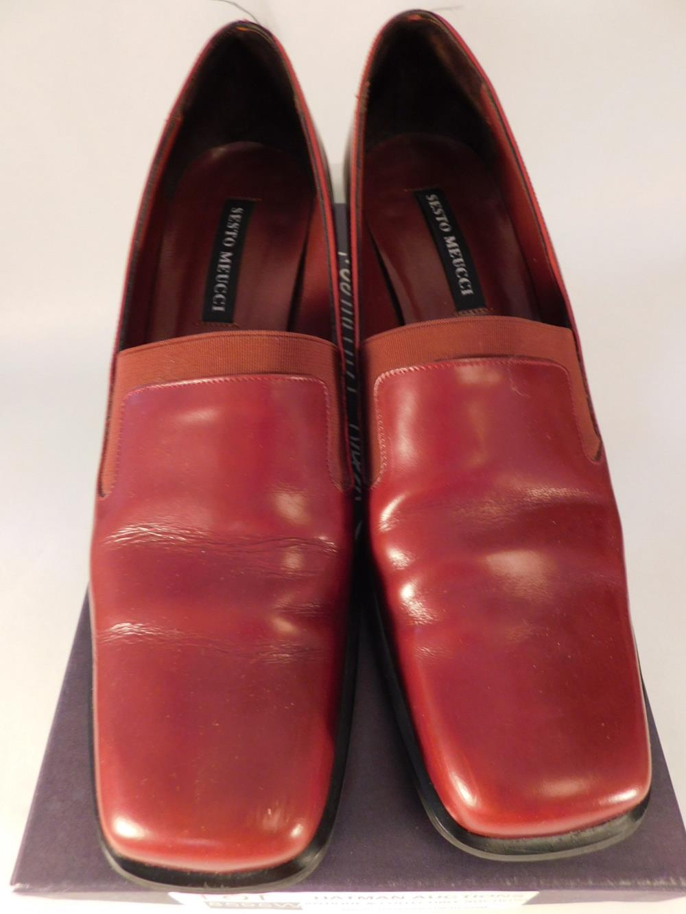 SESTO MEUCCI OF FLORENCE MADE IN ITALY SHOES VIKING RED CALF SIZE 7.5 N WOMENS DRESS SHOE