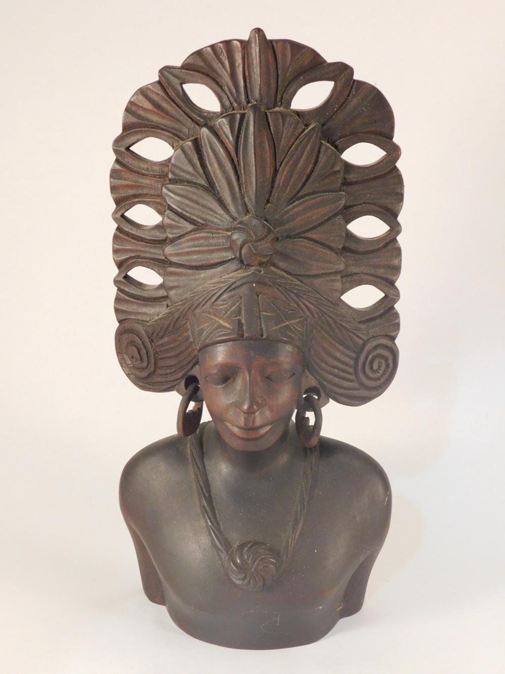 HAND CARVED WOODEN AFRICAN MASK TRIBAL