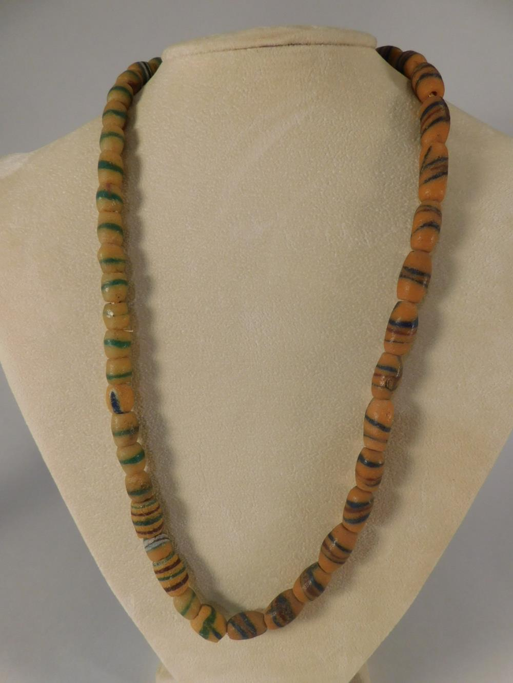 RARE OLD AFRICAN TRADE BEAD LARGE STRAND EACH BEAD UNIQUE