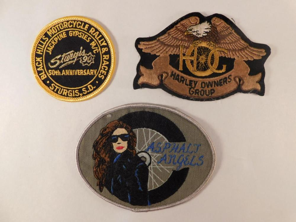 HARLEY DAVIDSON PATCHES MOTORCYCLE HOG