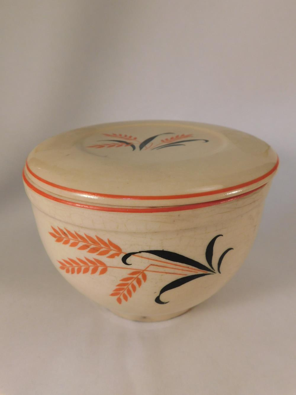 COVERED WHEAT BOWL VINTAGE