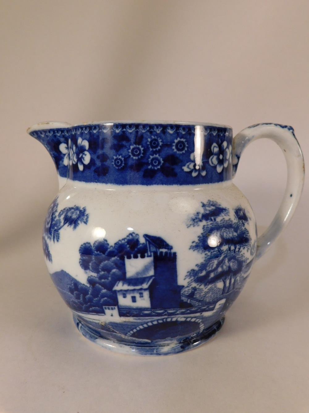 BLUE AND WHITE VINTAGE PITCHER CREAMER