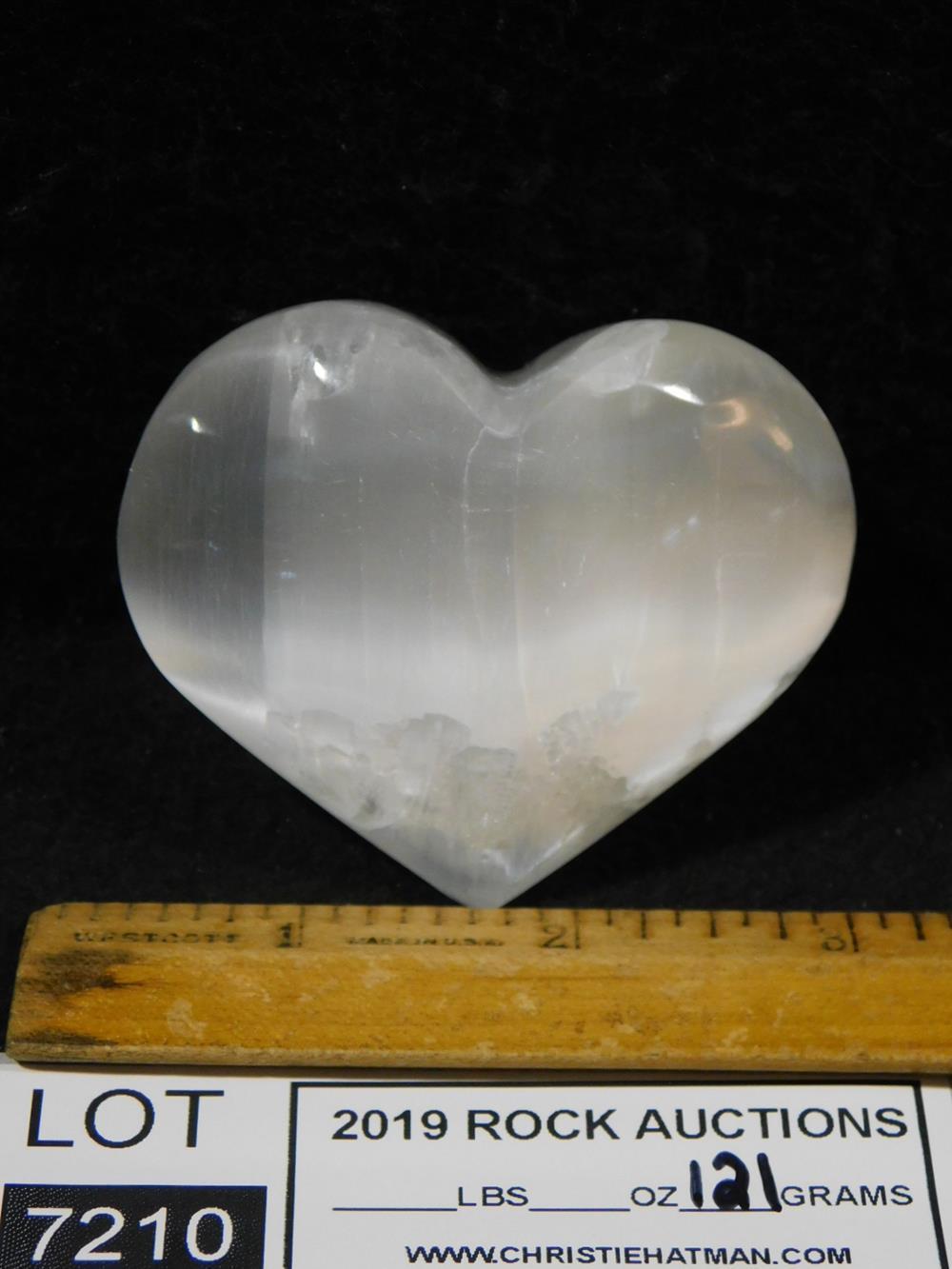 SELENITE HEART ROCK STONE LAPIDARY SPECIMEN