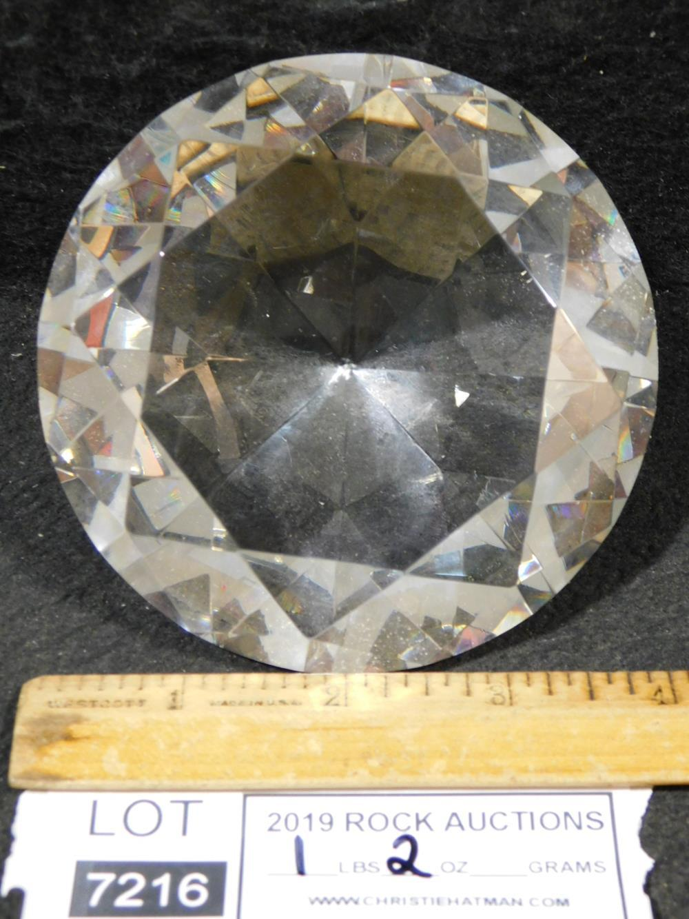 LARGE 1LB CRYSTAL DISPLAY DIAMOND