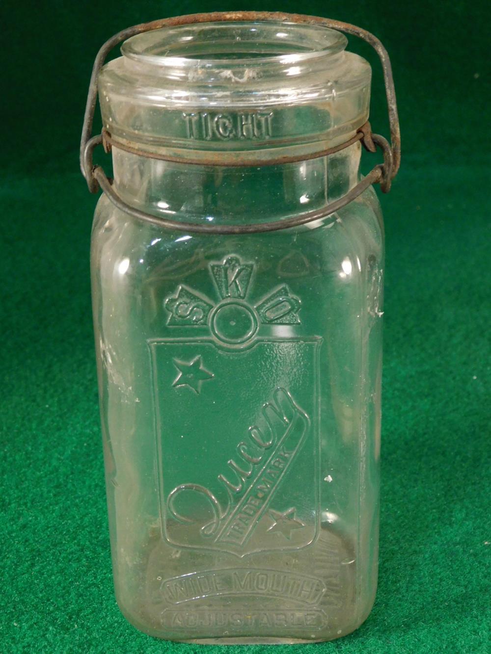VINTAGE ANTIQUE GLASS JAR ANTIQUES AND COLLECTIBLES