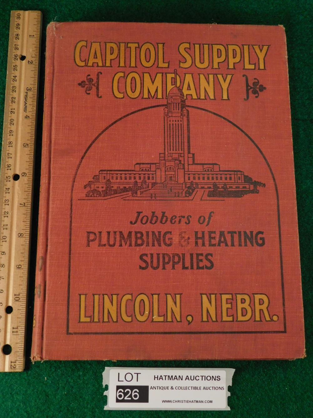 VINTAGE HARDBACK SUPPLY CATALOG CAPITOL SUPPLY COMPANY JOBBERS OF PLUMBING AND HEATING SUPPLIES BOOK ANTIQUES AND COLLECTIBLES