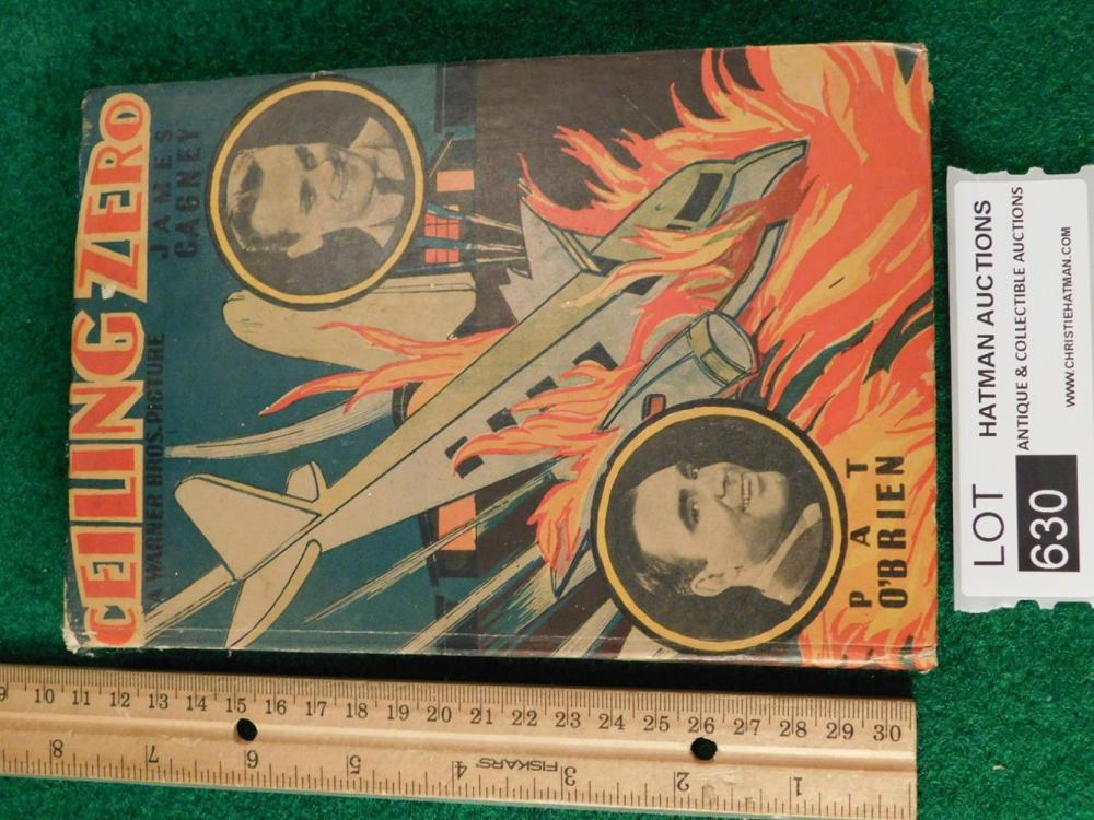 SCI FI VINTAGE CEILING ZERO JAMES CAGNEY BOOK ANTIQUES AND COLLECTIBLES
