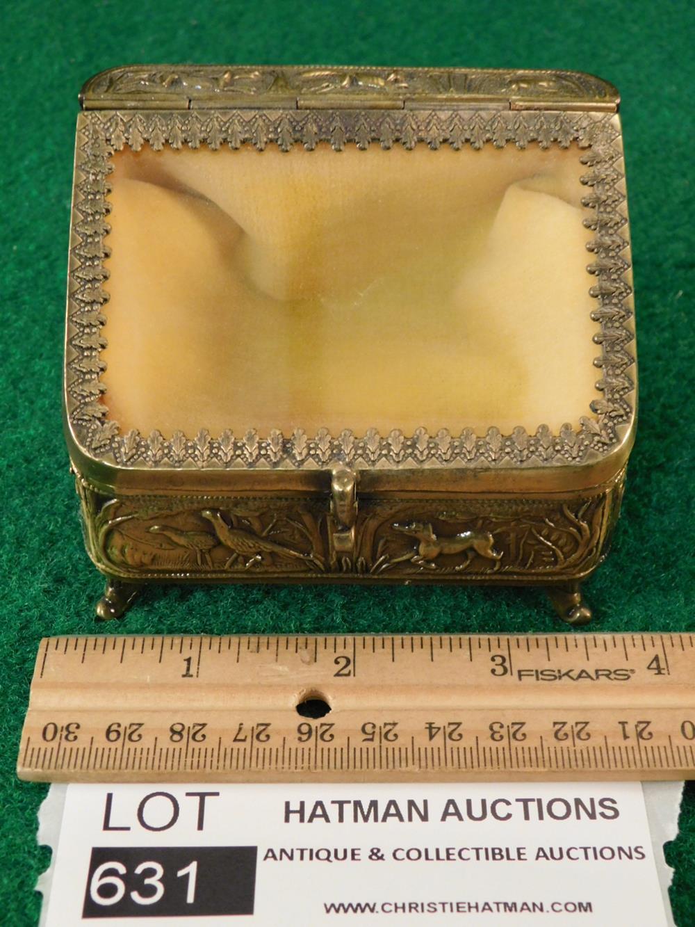VINTAGE JEWELRY CASKET JEWELRY BOX