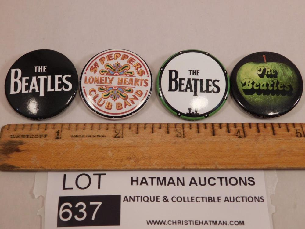 BEATLES PINS ANTIQUES AND COLLECTIBLES