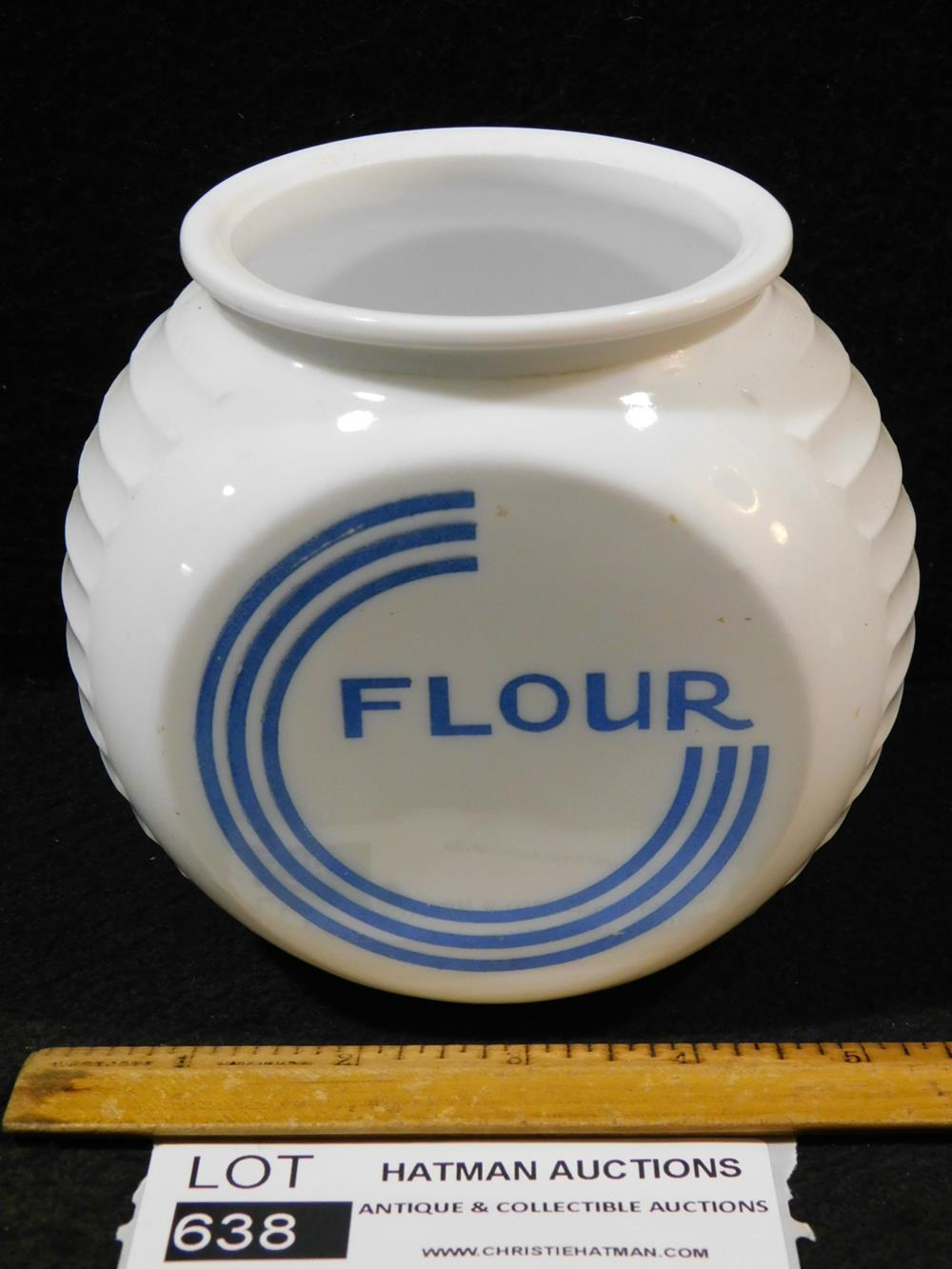 VINTAGE FLOUR CANISTER ANTIQUES AND COLLECTIBLES