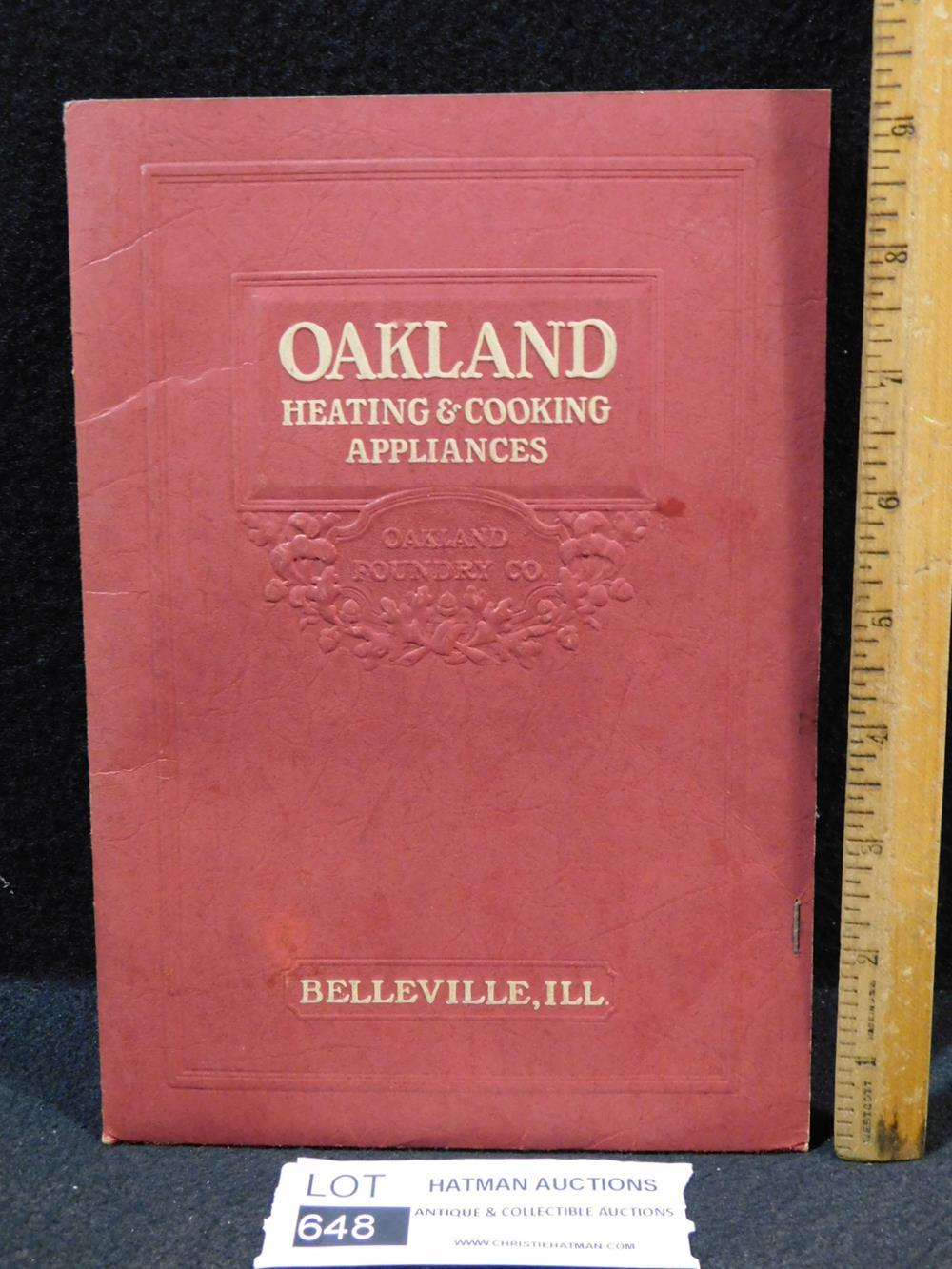 VINTAGE CATALOG OAKLAND HEATING AND COOKING APPLIANCES BOOK ANTIQUES AND COLLECTIBLES