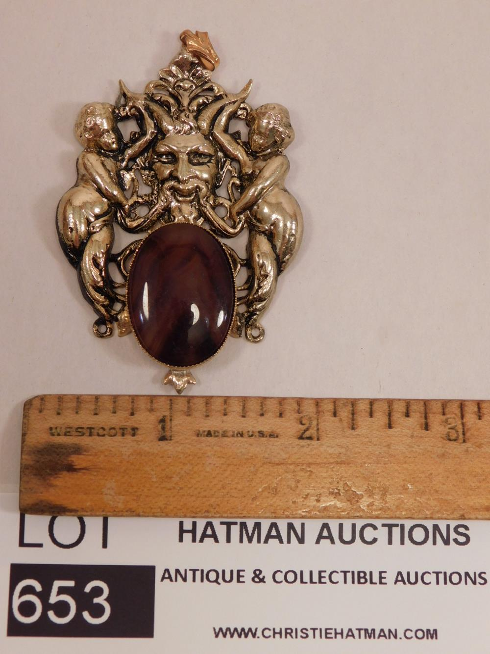 CABOCHON PENDANT ANTIQUES AND COLLECTIBLES