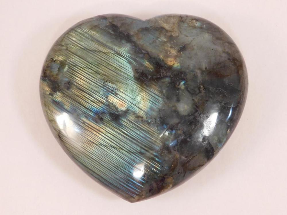 1 POUND LABRADORITE HEART ROCK STONE LAPIDARY SPECIMEN