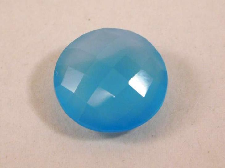 BLUE AQUA CHALCEDONY GEMSTONE 10 CARATS ROCK STONE LAPIDARY SPECIMEN