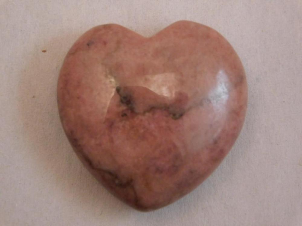 RHODONITE POLISHED HEART
