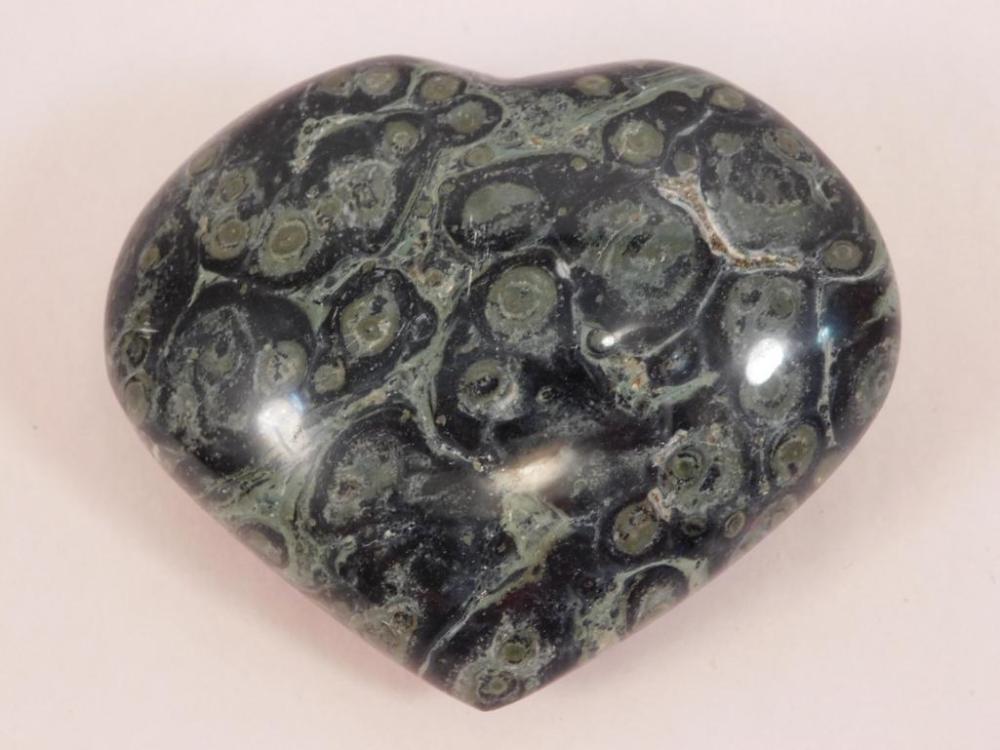 KAMBABA JASPER HEART ROCK STONE LAPIDARY SPECIMEN