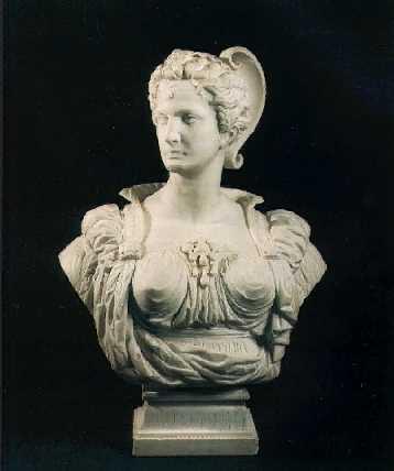 MARCELLO (ADELE D'AFFRY, DUCHESSE DE CASTGLIONE-COLONNA) (SWISS, 1836-1879) 'Bianca Capello', An Over-Lifesize White Marble Portrait Bust