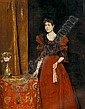 ALFRED STEVENS (BELGIAN, 1823-1906) Elegant Lady Holding a Fan, Alfred Stevens, Click for value