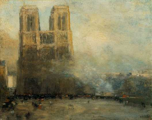 EUGENE LOUIS GILLOT (FRENCH, 1868-1925) A View of Notre Dame