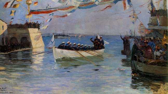 EUGENE HENRI ALEXANDRE CHIGOT (FRENCH, 1860-1927) Arsenal de Toulon