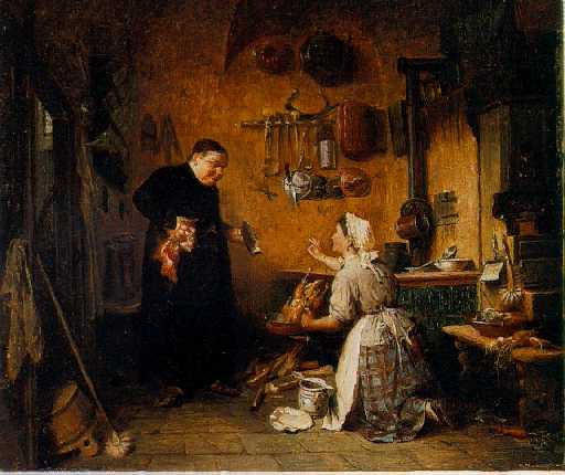 PETER BAUMGARTNER (GERMAN, 1834-1911) A Hearty Appetite