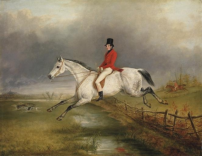A master of the Royal Buckhounds on a grey hunter