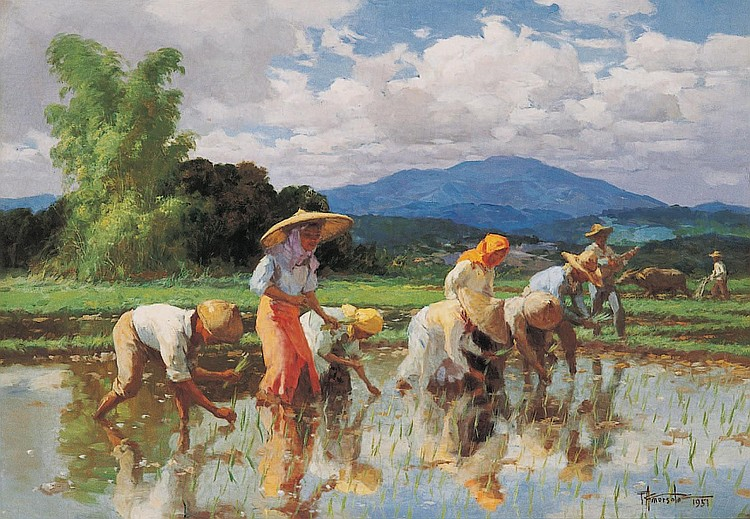FERNANDO CUETO AMORSOLO  (The Philippines 1892-1972)