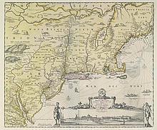JAILLOT, Alexis Hubert (ca. 1632-1712).Amerique Septentrionale Divisee En Ses Principales Parties. Amsterdam, n.d. [ca. 1694].